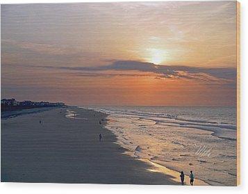 Folly Beach Sunrise Wood Print by Meta Gatschenberger