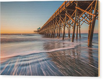 Folly Pier Wood Print