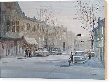 Fond Du Lac - Downtown Wood Print