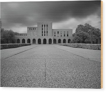 Wood Print featuring the photograph Fondren Library  by Joshua House
