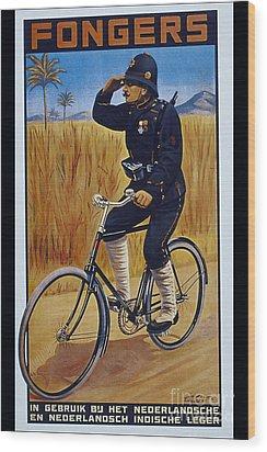 Fongers In Gebruik Bil Nederlandsche En Nederlndsch Indische Leger Vintage Cycle Poster Wood Print by R Muirhead Art