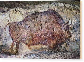 Font De Gaume Bison Wood Print