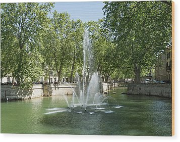 Wood Print featuring the photograph Fontaine De Nimes by Scott Carruthers
