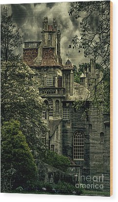 Fonthill With Storm Clouds Wood Print
