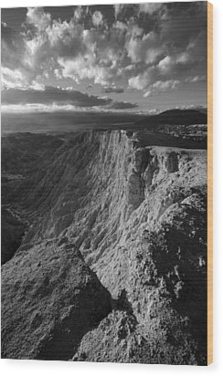 Font's Point Wood Print by Peter Tellone