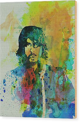 Foo Fighters Wood Print by Naxart Studio
