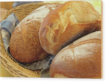 Wood Print featuring the photograph Food - Bread - Just Loafing Around by Mike Savad