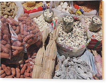 Wood Print featuring the photograph Food Market by Aidan Moran