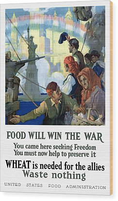 Food Will Win The War Wood Print by War Is Hell Store