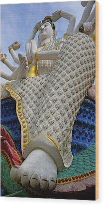 Foot Of Buddha Wood Print