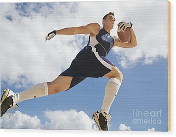 Football Athlete II Wood Print by Kicka Witte - Printscapes