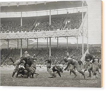 Football Game, 1916 Wood Print by Granger