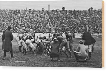 Football Game University Of Pennsylvania Vs Lafayette University C 1896 Wood Print by A Gurmankin