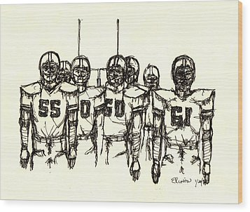 Football Nasties Wood Print by Brett H Runion