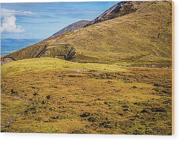 Foothill Of The Macgillycuddy's Reeks In Kerry Ireland Wood Print by Semmick Photo
