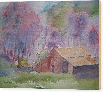 Foothills Farm Ll Wood Print