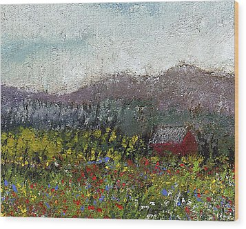 Foothills Meadow Wood Print by David Patterson