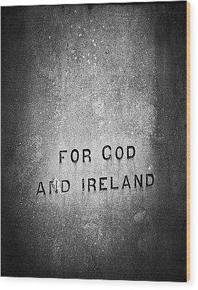 For God And Ireland Macroom Ireland Wood Print