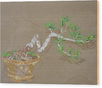 For Inge Wood Print by Leah  Tomaino