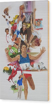For Love Of The Games Wood Print by Chuck Hamrick