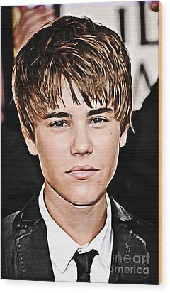 For The Belieber In You Wood Print by The DigArtisT
