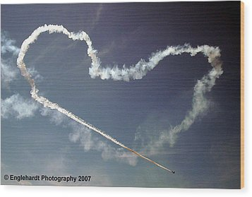 For The Love Of Flight Wood Print by Jennifer Englehardt
