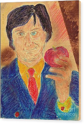 Forbidden Fruit From Steve Jobs Wood Print by Richard W Linford