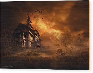 Forbidden Mansion Wood Print by Svetlana Sewell