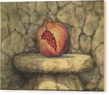 Forbidden Pomegranete Wood Print