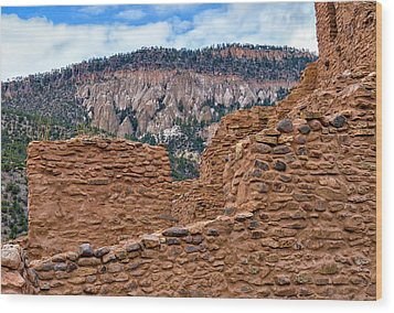 Wood Print featuring the photograph Forbidding Cliffs by Alan Toepfer