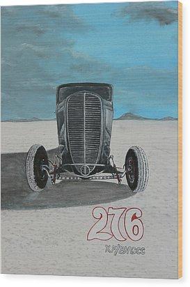 Ford 34' At Bonneville Wood Print by Chris Lambert
