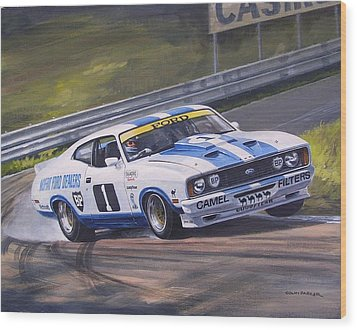 Ford Cobra - Moffat Racing  Wood Print