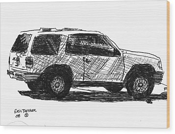 Ford Explorer Wood Print by Eric Tressler