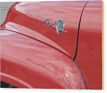 Ford F-100 Wood Print by Kelly Mezzapelle
