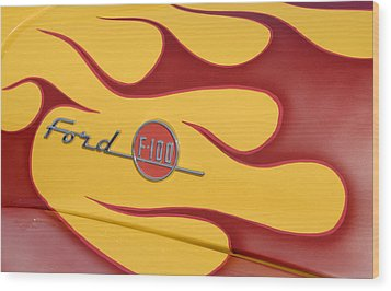 Ford F100 Wood Print