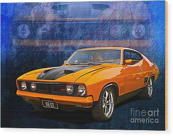 Ford Falcon Xb 351 Gt Coupe Wood Print