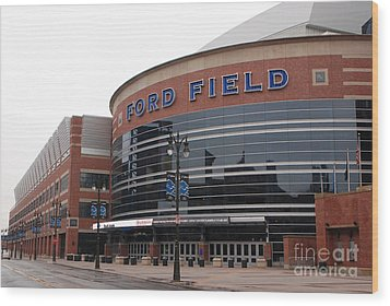 Ford Field Wood Print