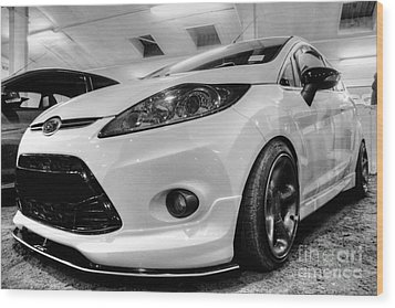 Ford Fiesta In Hdr Wood Print by Vicki Spindler
