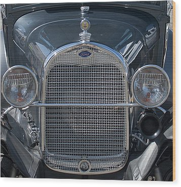 Ford Grill Wood Print