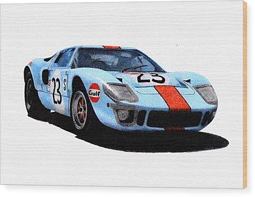 Ford Gt40 Hobbs/hailwood 1969 Wood Print by Ugo Capeto
