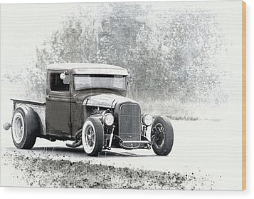 Ford Hot Rod Wood Print by Athena Mckinzie