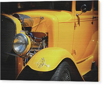 Wood Print featuring the photograph Ford Hot-rod by Jeremy Lavender Photography