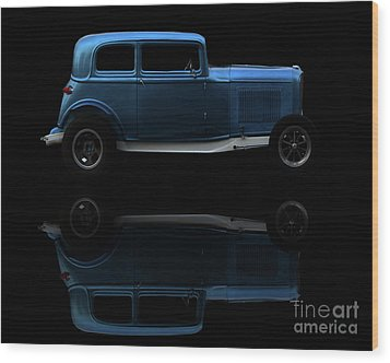 Ford Hot Rod Reflection Wood Print