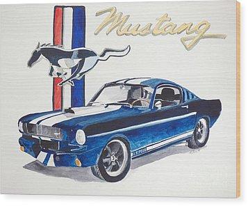 Ford Mustang Wood Print by Eva Ason