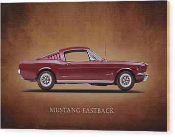 Ford Mustang Fastback 1965 Wood Print by Mark Rogan