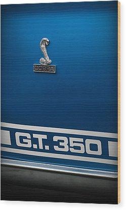 Ford Mustang G.t. 350 Cobra Wood Print by Gordon Dean II