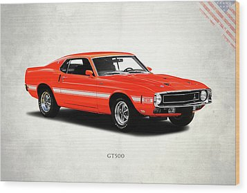 Ford Mustang Shelby Gt500 1969 Wood Print by Mark Rogan