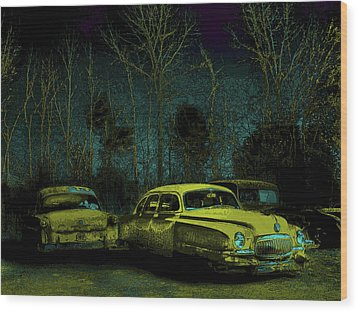 Ford-o-matic And Friends Wood Print by David A Brown