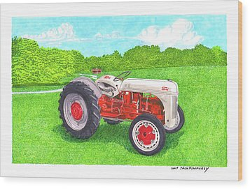 Wood Print featuring the painting Ford Tractor 1941 by Jack Pumphrey