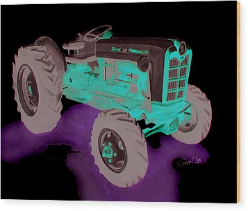 Ford Tractor Wood Print by Ferrel Cordle